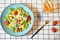 烤蔬菜小扁豆坚果沙拉配葡萄柚蜜茶的做法