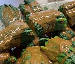 开胃菠菜卷的做法