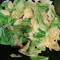 炝炒圆白菜~开胃菜的做法图解3