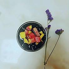 水果酱龟苓膏