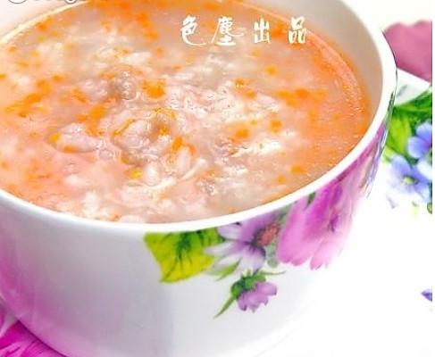 胡萝卜牛肉粥的做法
