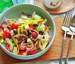 健康食谱|经典希腊色拉,地中海风味来袭#硬核菜谱制作人#的做法