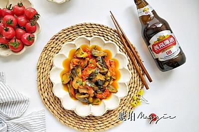燕京U8啤酒烧茄子