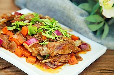 营养下酒菜--干煸孜然小羊排