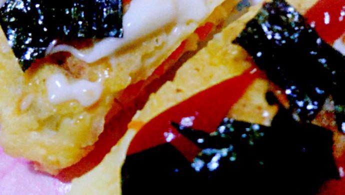 虾仁玉米蛋卷