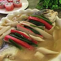 土法白烧鲳鱼#浪漫樱花季#的做法图解5