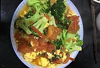 快手炒菜之西兰花番茄炒鸡蛋的做法