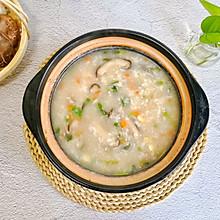 暖胃营养粥|【香菇鸡肉粥】
