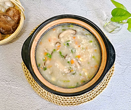 暖胃营养粥|【香菇鸡肉粥】的做法
