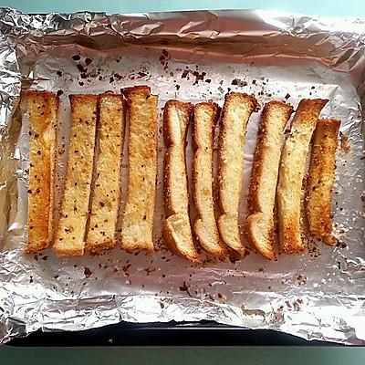 自制蒜香面包干(超级简单)