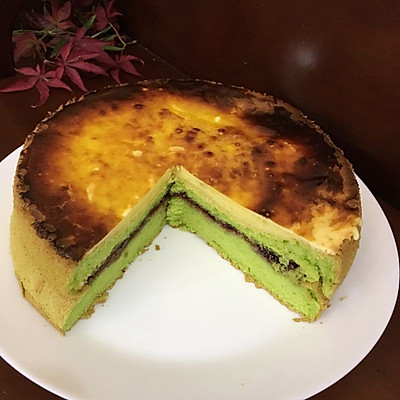 菠菜戚风奶酪蛋糕