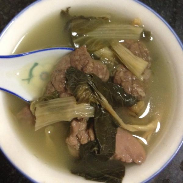猪肺菜干汤的做法