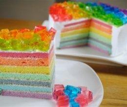 彩虹蛋糕(六寸活底模)的做法