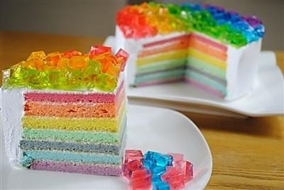 彩虹蛋糕(六寸活底模)