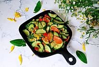 #花10分钟,做一道菜!#火腿肠炒黄瓜的做法