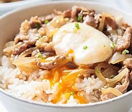 【日式肥牛饭】肥牛加鸡蛋,懒人饭变得不一般!的做法
