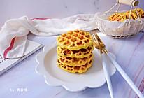 #好吃不上火#南瓜蜜豆华夫饼的做法