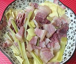 咸肉蒸百叶的做法