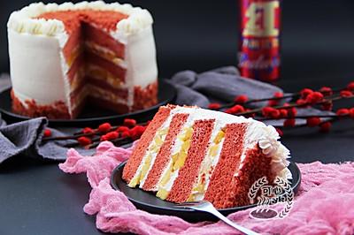红曲,芒果奶油蛋糕。