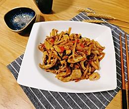 #秋天怎么吃#酸辣开胃老友炒肥肠的做法
