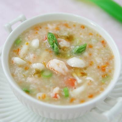 蘑菇鲜虾粥