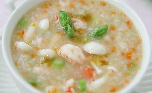 蘑菇鲜虾粥的做法