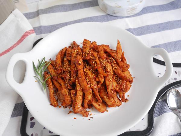 低脂低卡减肥餐❗️能吃出烧烤味的 孜然鸡肉条的做法