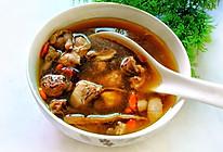 #憋在家里吃什么#松茸菌赤灵芝炖土鸡汤。的做法