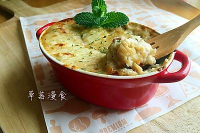 奶油蘑菇鸡肉派