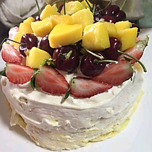 草莓芒果千层蛋糕