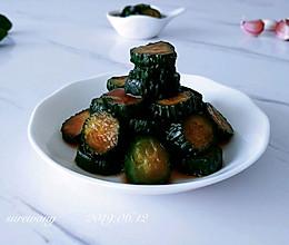 酸蒜甜咸五香瓜的做法