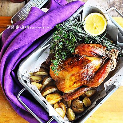 圣诞家宴餐桌上的保留菜:脆皮烤鸡