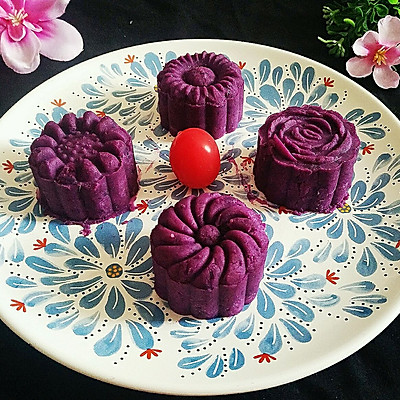 简易版紫薯糕