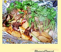 锡纸烤羊腿肉的做法