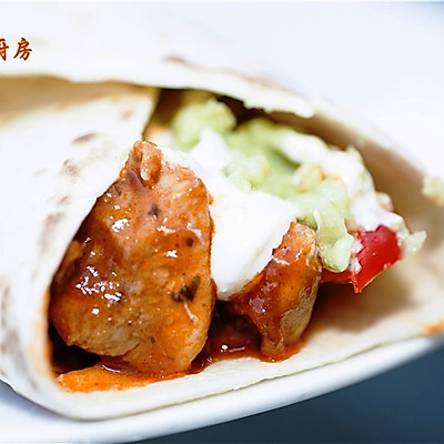 曼步厨房 -墨西哥鸡肉卷