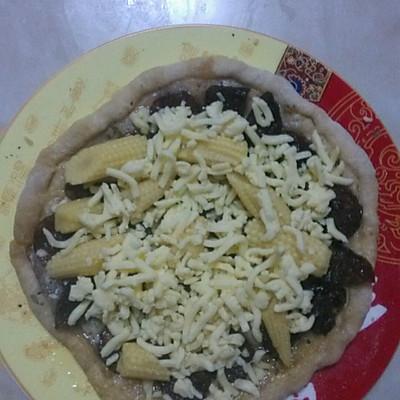 微波炉披萨的做法 步骤4