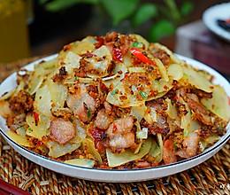 炸辣椒炒土豆片------湖北特色的做法