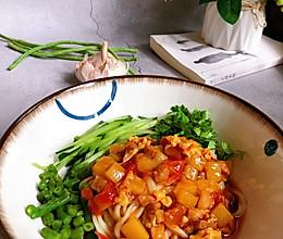 改良版 西红柿打卤面的做法