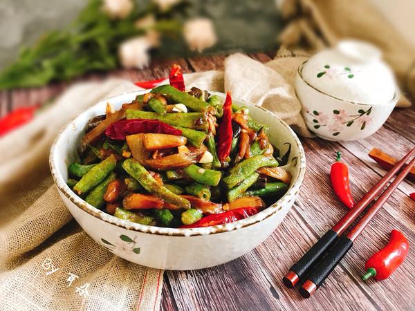 快手家常菜茄子烧豆角 简单易做下饭菜的做法