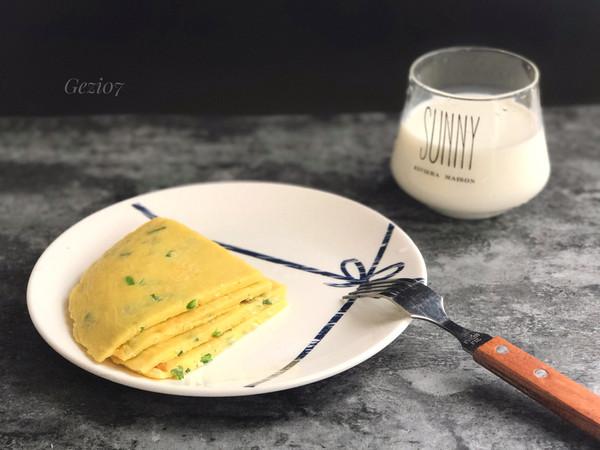 快手营养早餐~葱花鸡蛋煎饼的做法