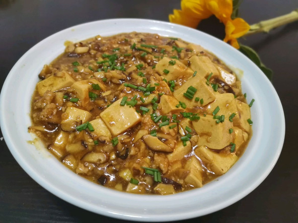 儿童餐丨香菇肉末嫩豆腐的做法