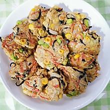 蔬菜鸡肉饼