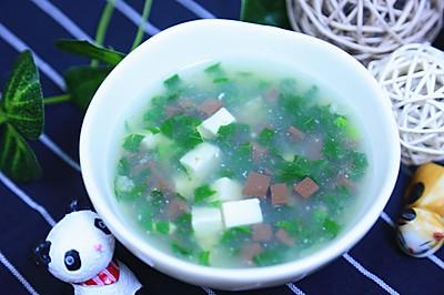 鸭血豆腐汤  宝宝辅食食谱