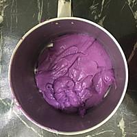 紫薯糯米饼的做法图解2
