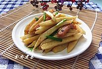 蚝香茭白炒火腿的做法