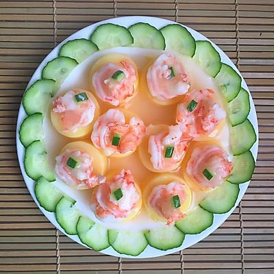 玉豆腐蒸虾仁