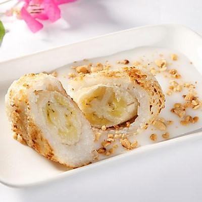越南小吃——香蕉糯米团
