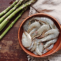 翡翠虾仁炒芦笋的做法图解1