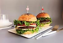 """一块牛排堡#在""""家""""打造ins风美食#的做法"""