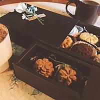 网红香港珍妮小熊曲奇 咖啡小花云顶曲奇饼干 咖啡伴侣下午茶的做法图解17